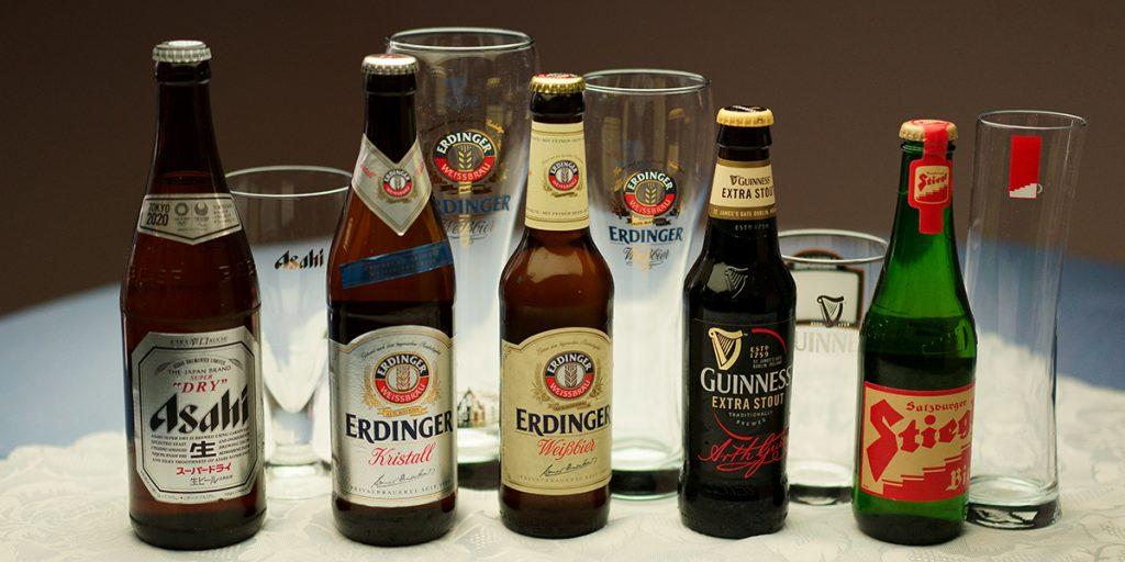 下呂温泉のレストラン 瓶ビール 人気のエアディンガーもあります
