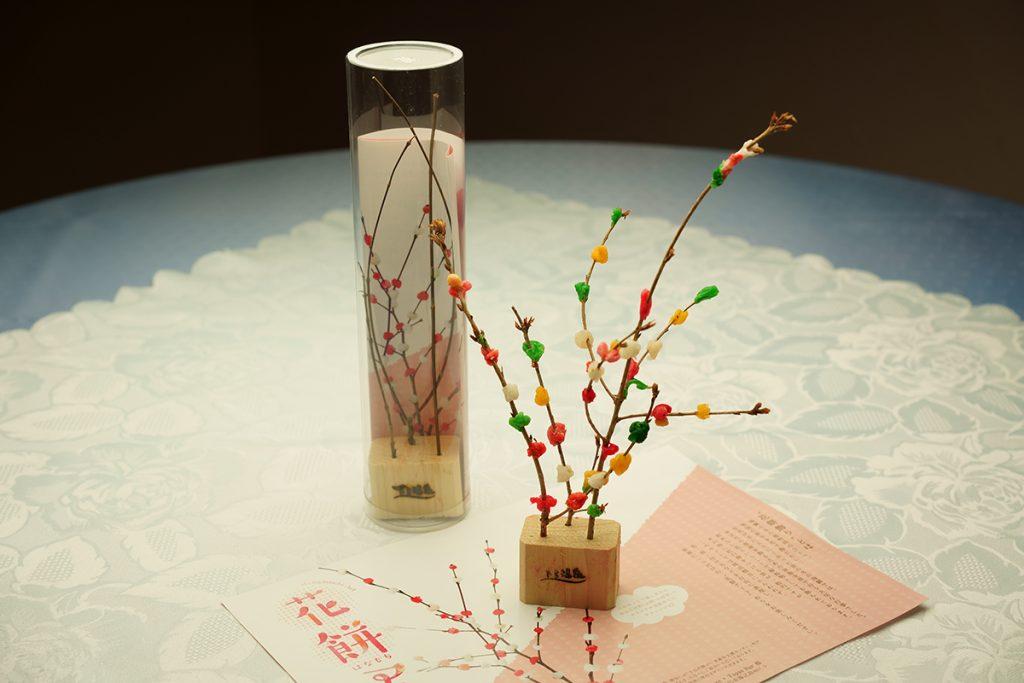 下呂温泉のレストラン SAKURAの花餅アート 実際に体験することができます。